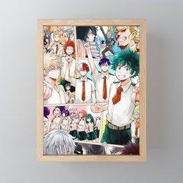 My Hero Academia v5 Framed Mini Art Print