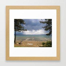 Lake Tahoe in the winter Framed Art Print