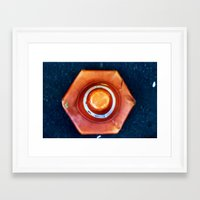 dot Framed Art Prints featuring dot by Cansu Girgin