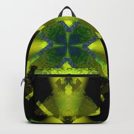 Spinning Wheel Hubcap in Lime Green Backpack