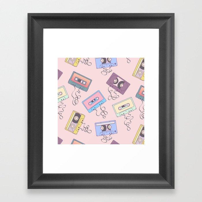 Cassette Pattern Gerahmter Kunstdruck