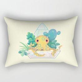 Ocean terrarium - Blue ringed octopus Rectangular Pillow