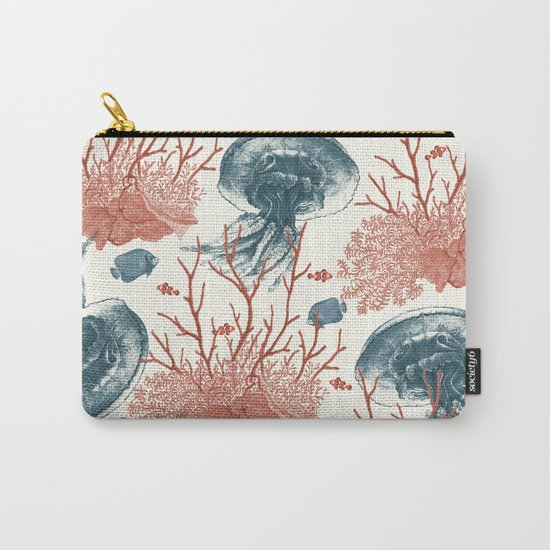 Aquatic Pattern Carry-All Pouch