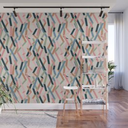 Straight Geometry Ribbons 1 Wall Mural