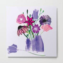 Kaitlyn's Floral Bouquet Metal Print