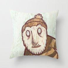 Hockey Yeti Throw Pillow