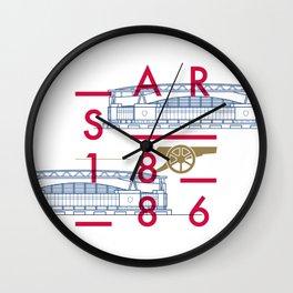 Emirates - Arsenal - Typoline Stadiums Wall Clock
