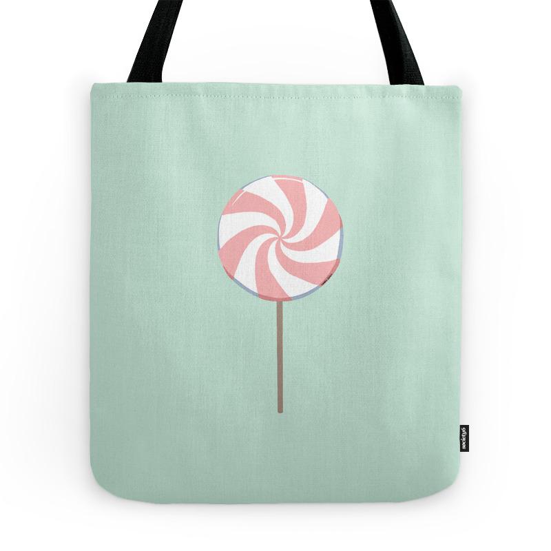 Pink Lollipop Tote Purse by maali (TBG7190522) photo