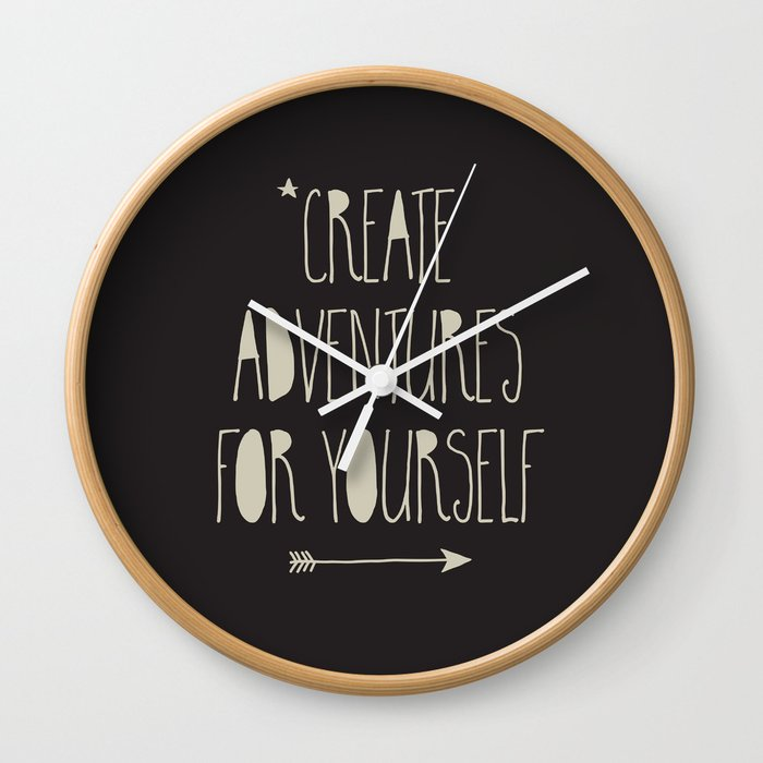 Create Adventures Wall Clock