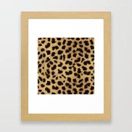 Faux Cheetah Skin Design Framed Art Print
