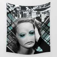 sad Wall Tapestries featuring sad by Rosa Picnic