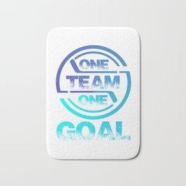 One Team One Goal bt Bath Mat