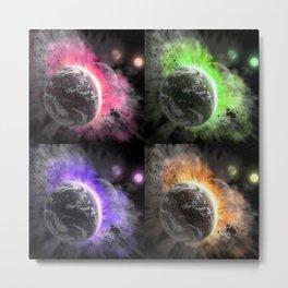 Collision planet Metal Print