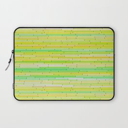 Lime Yellow Random Line Sections Laptop Sleeve