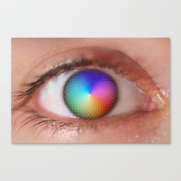 I see all the Colors - Geometric Pantone Eye Vision Canvas Print