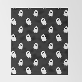 Black and White Ghosts Throw Blanket