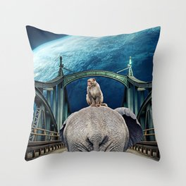 Planet of the Apes by GEN Z Throw Pillow
