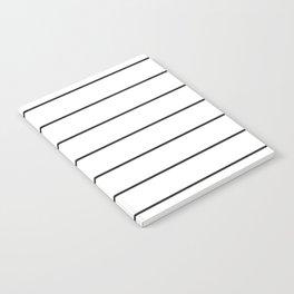 SKINNY STRIPE ((black on white)) Notebook