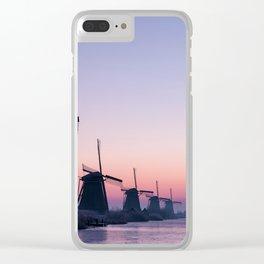 Windmills at Sunrise II Clear iPhone Case
