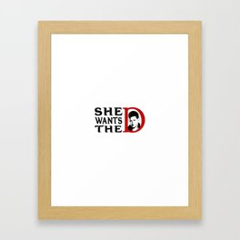 De Framed Art Print