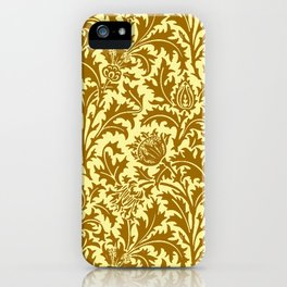 William Morris Thistle Damask in Mustard Gold iPhone Case