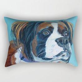 Nori the Therapy Boxer Dog Portrait Rectangular Pillow