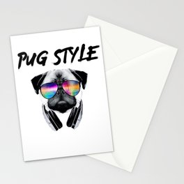 Pug Style Stationery Cards