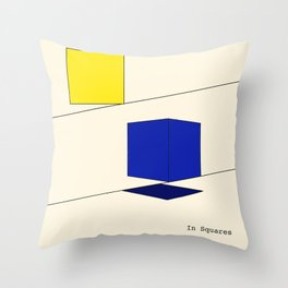 In Squares Throw Pillow