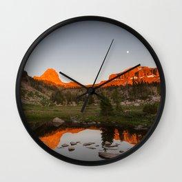 Alpenglow Wall Clock