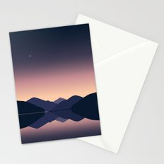 Mountain sunset reflection Stationery Cards