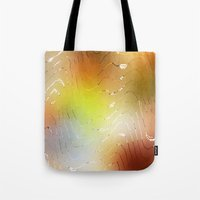 coconut wishes Tote Bags featuring Wishes  by SensualPatterns