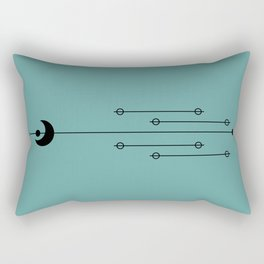 Waxing Moon with Little Planets Rectangular Pillow