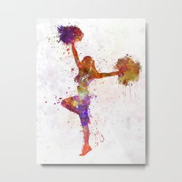 young woman cheerleader 06 Metal Print