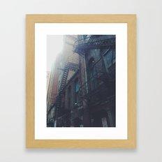 behind the lots Framed Art Print