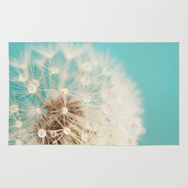 dandelion with waterdrops Rug