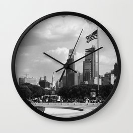 view from the art museum Wall Clock