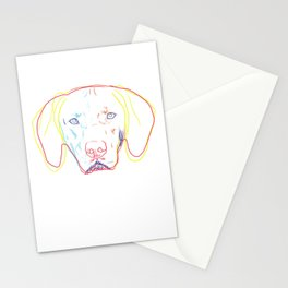 Strokes Hungarian Vizsla Dog  Stationery Cards