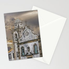 Exterior Facade Antique Colonial Church Olinda Brazil Stationery Cards