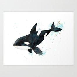 Some orca magic Art Print