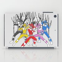 power rangers iPad Cases featuring Mighty Morphing Lone Rangers by Jonah Makes Artstuff