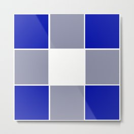TEAM COLORS 3 ....BLUE ,GRAY Metal Print