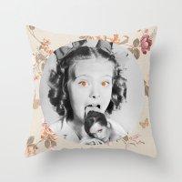 icecream Throw Pillows featuring : icecream : by Bauerhorst