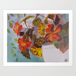 Red Geraniums Art Print