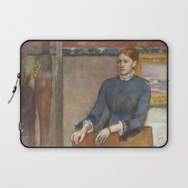 Helene Rouart in her Father's Study by Edgar Degas Laptop Sleeve