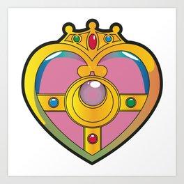 Neon Heart Pendant Art Print
