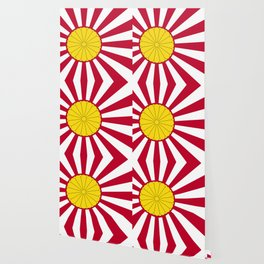 Japanese Flag And Inperial Seal Wallpaper