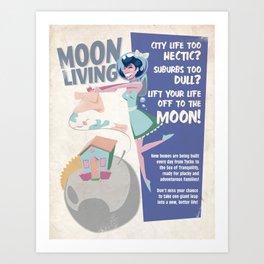 Moon Living Art Print