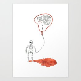 A Slow Unravel Art Print