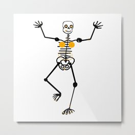 Skeleton Rara Dentor female Metal Print