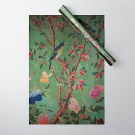 Green Dream Chinoiserie Wrapping Paper